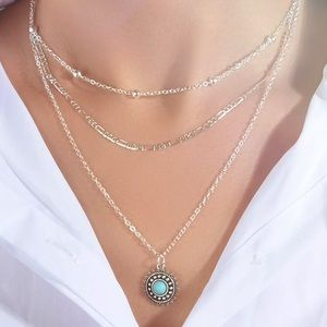 JUNIPER Silver Tone Layer Westwen Charm Necklace